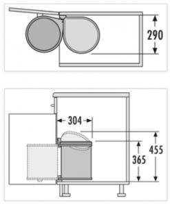 Afvalemmer Hailo Mono 15 liter 3515-07 - donkergrijs/zwart-kopen