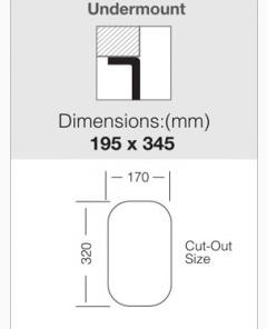 Spoelbak Foresi U 200-170 Onderbouw-kopen