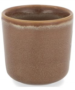 HEMA Bloempot - Ø 6.5 Cm - Bruin Reactief Glazuur (Brown)