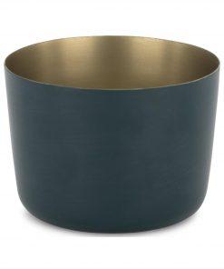 HEMA Sfeerlichthouder - 5.5 X Ø 8 Cm - Donkerblauw (donkerblauw)