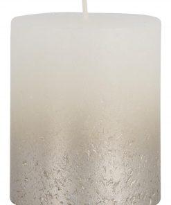 HEMA Rustieke Kaars - 8 X 6.8 Cm - Champagne Wit (wit)