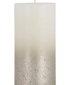 HEMA Rustieke Kaars - 13 X 6.8 Cm - Champagne Wit (wit)