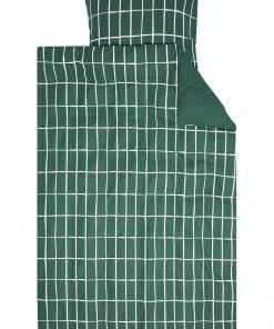 HEMA Dekbedovertrek - Flanel - Ruit Groen (groen)