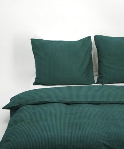 HEMA Dekbedovertrek - Zacht Katoen - Structuur Groen (groen)