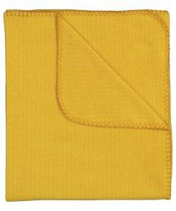 HEMA Fleece Plaid - 130 X 150 - Okergeel (geel)