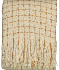 HEMA Plaid Mohairlook - 130 X 150 - Beige/bruin (naturel)