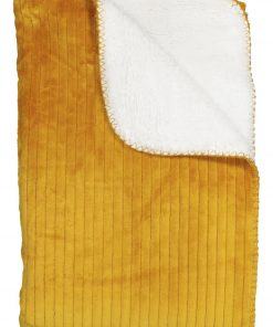 HEMA Sherpa Plaid - 130 X 150 - Okergeel (geel)