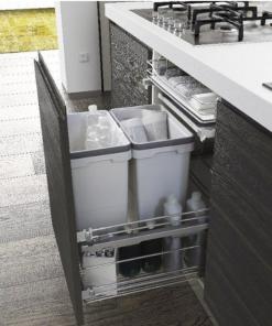 Copa Design Afvalemmer Copa A-5000. 60 liter. Front en draaideur toepassing-review