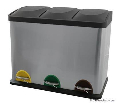 Pedaalemmer Steeldesign Trio + 45 liter (vorig model)