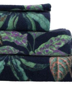 HEMA Handdoek - Velours Blauw (blauw)