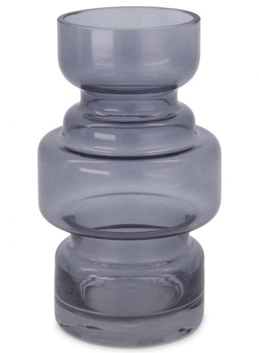 HEMA Vaas - 17 X Ø 8 Cm - Grijs Transparant (grijs)