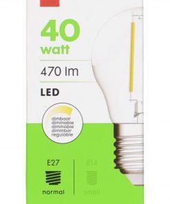 HEMA LED Lamp 40W - 470 Lm - Kogel - Helder (transparant)