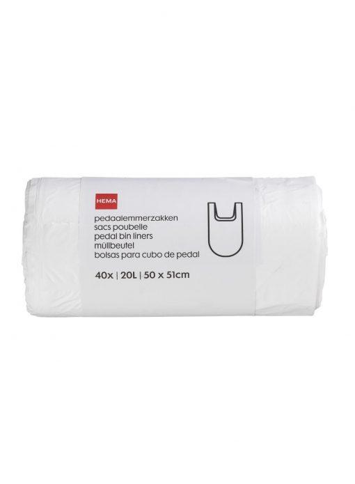 HEMA 40-pak Pedaalemmerzakken 20 L (transparant)