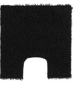 Toiletmat Dex - zwart - 60x60 cm - Leen Bakker