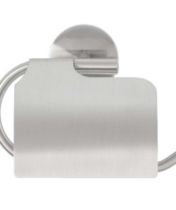 Toiletrolhouder Joy met klep - zilverkleurig - 16
