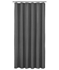 Douchegordijn Color - antraciet - 180x200 cm - Leen Bakker