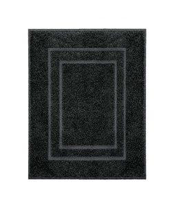 Kleine Wolke badmat Plaza - zwart - 60x80 cm - Leen Bakker