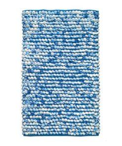 Kleine Wolke badmat Marseille - blauw - 60x90 cm - Leen Bakker