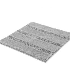 Kleine Wolke badmat Monrovia - grijs - 60x60 cm - Leen Bakker