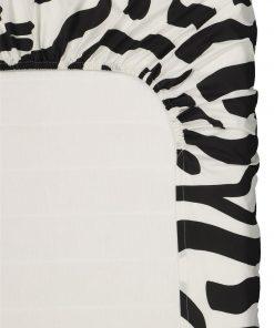HEMA Hoeslaken - Zacht Katoen Zwart/wit (zwart/wit)