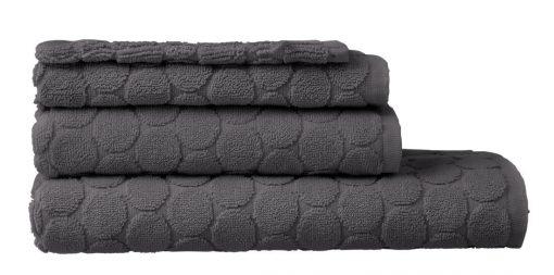 HEMA Handdoeken - Zware Kwaliteit - Gestipt Donkergrijs (donkergrijs)