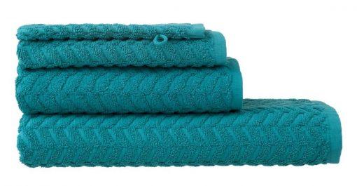 HEMA Handdoeken - Zware Kwaliteit - Zigzag Donkergroen (donkergroen)