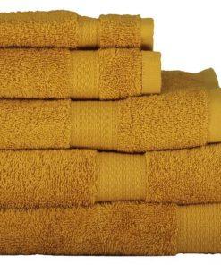 HEMA Handdoeken - Zware Kwaliteit Okergeel (okergeel)