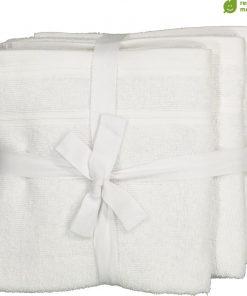 HEMA Handdoeken - 50 X 100 Cm - Katoen Met RPET - Wit - 4 Stuks (wit)