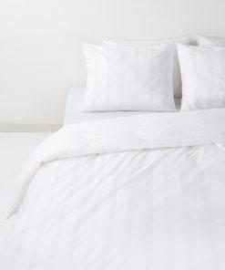 HEMA Dekbedovertrek - Hotel Katoen Satijn - Streep Wit (wit)