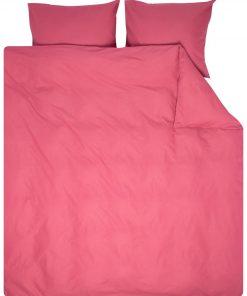 HEMA Dekbedovertrek - 200 X 200/220 - Zacht Katoen - Roze (roze)