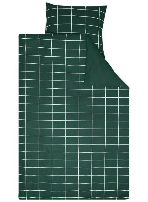 HEMA Dekbedovertrek - Katoen - Ruit Groen (groen)