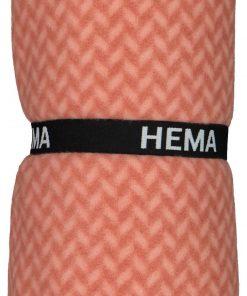 HEMA Plaid Fleece 130x150 Zigzag Terra