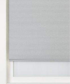 HEMA Rolgordijn Glanzend Metallic Lichtdoorlatend Zilvergrijs (zilvergrijs)