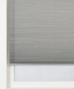HEMA Plissé Dubbel Lichtdoorlatend / Witte Achterzijde 25 Mm Grijs (grijs)