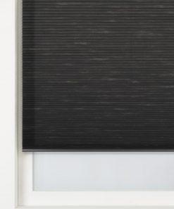 HEMA Plissé Dubbel Lichtdoorlatend / Witte Achterzijde 25 Mm Antraciet (antraciet)