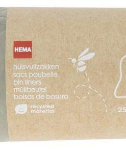 HEMA Huisvuilzakken Met Trekband 30L - Gerecycled Plastic - 25 Stuks