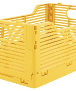 HEMA Klapkratje Letterbord Recycled 20x30x11.5 - Geel (geel)