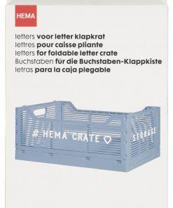 HEMA Letters Voor Klapkrat - Wit (wit)