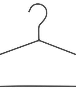 HEMA Kledinghangers Metaal Zwart 3 Stuks (zwart)