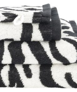 HEMA Handdoek - Zware Kwaliteit Wit/zwart (wit/zwart)
