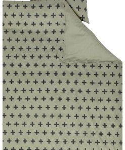 HEMA Kinderdekbedovertrek - 140x200 - Zacht Katoen - Groene Plusjes