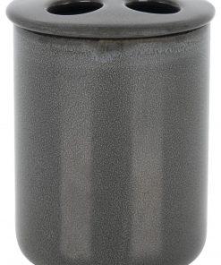 HEMA Tandenborstelhouder - Ø8.5x10cm - Reactief Keramiek - Antraciet