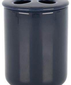 HEMA Tandenborstelhouder - Ø8.5x10cm - Keramiek - Donkerblauw